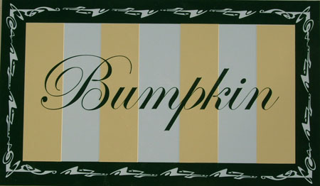 Bumpkin cottage sign